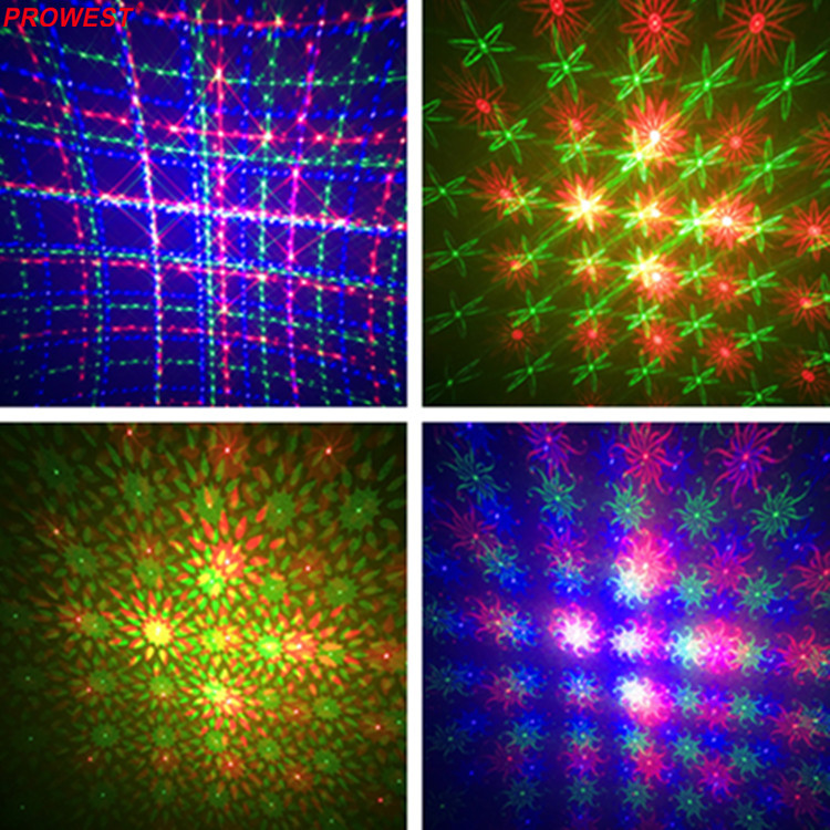 12W RGB Disco Laser light Projector Different Patterns DJ Equipment Party Light Show