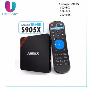NEXBOX A95X Smart TV Box Amlogic S905X Quad Core 64Bit 2GB RAM 16GB ROM Android 6.0 4K x 2K H.265 2.4GHz WiFi Box Android TV Box