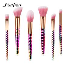 Fulljion 6 Pcs Arcobaleno Pennello Cosmetico <span class=keywords><strong>Set</strong></span> Pinceau Maquillage Brush Make <span class=keywords><strong>Set</strong></span> Up
