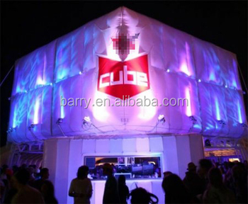 Durable led portable cube tent inflatables /inflatable led cube / inflatable lighting cube tent