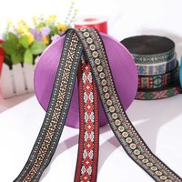 Factory supply wholesale polyester jacquard webbing embroidered ribbon