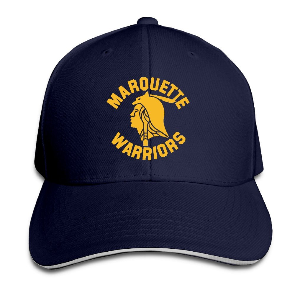 uk availability 622e4 dffc9 ... usa get quotations marquette warriors adjustable velcro baseball cap  a2f60 c5d6a