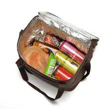 Wholesale Foldable Top Quality Cheap Beach Foods Packing Insulated Aluminum Cooler bag with two compartment
