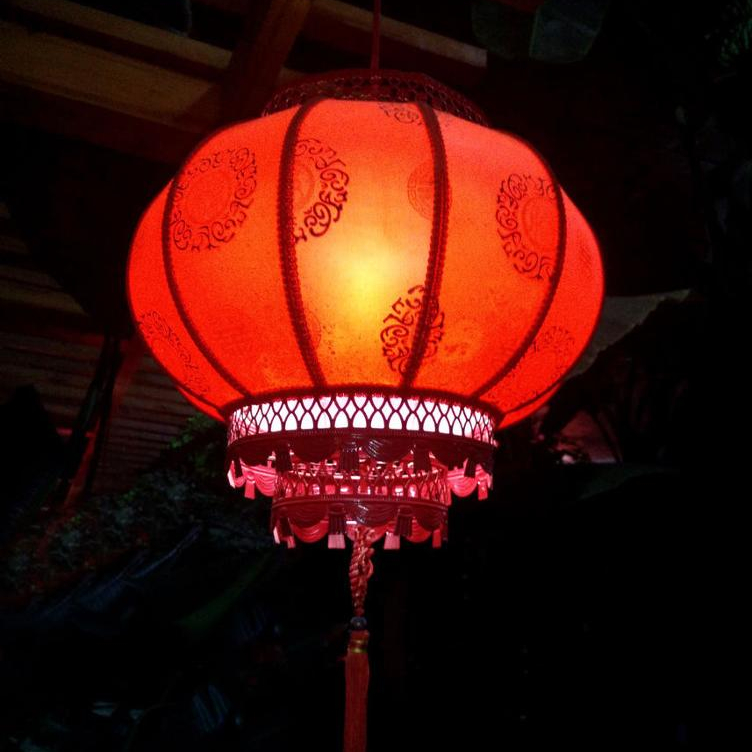 Hanging Lantern New Year Traditional Chinese Red Small 30Pcs//Set Spring Festival
