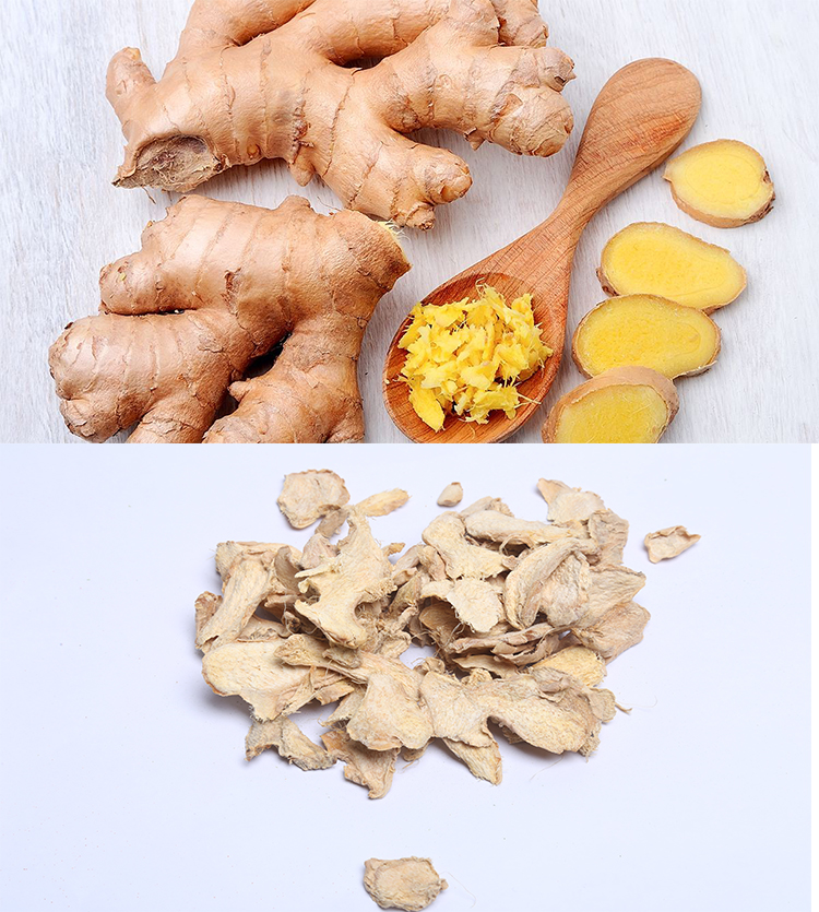 100% Natural Dried Ginger slices use as spice or herb high quality of the lowest price from China