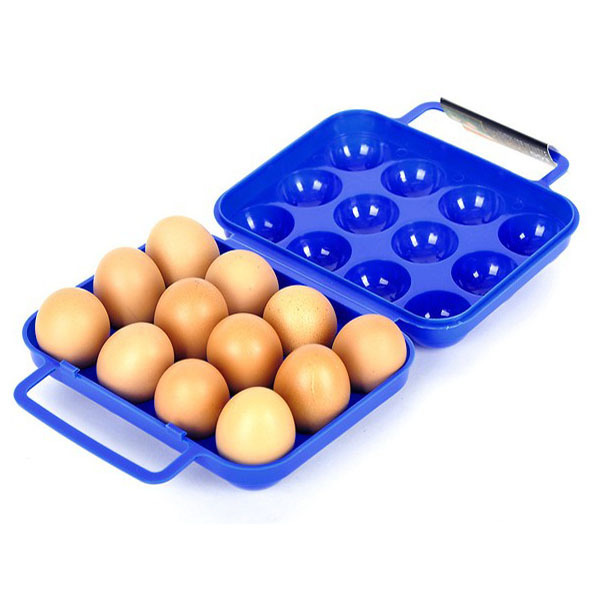 MUXIN CAMP outdoor barbecue supplies 12 portable anti-extrusion picnic egg cartons essential tool