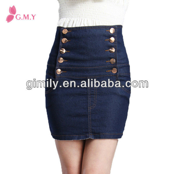 a4b70dcf5 Denim De Cintura Alta Faldas De Nueva Moda Falda De Jean - Buy Faldas De  Tela De Mezclilla,Falda De Mezclilla De Cintura Elástica,Mini Falda Corta  De ...