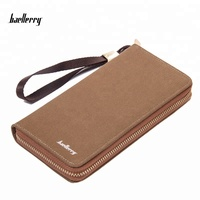 Baellerry 2017 New Hot Male Wallets Clutch Student Zipper Canvas Purses Long Design Men's Multifunction Wallet Card Holder