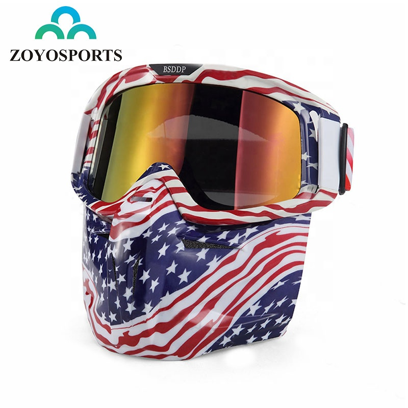 ZOYOSPORTS Fashion Motorcycle Goggles High Quality Protective Face Motorbike Goggle Windproof Motor Sports Mask Glasses