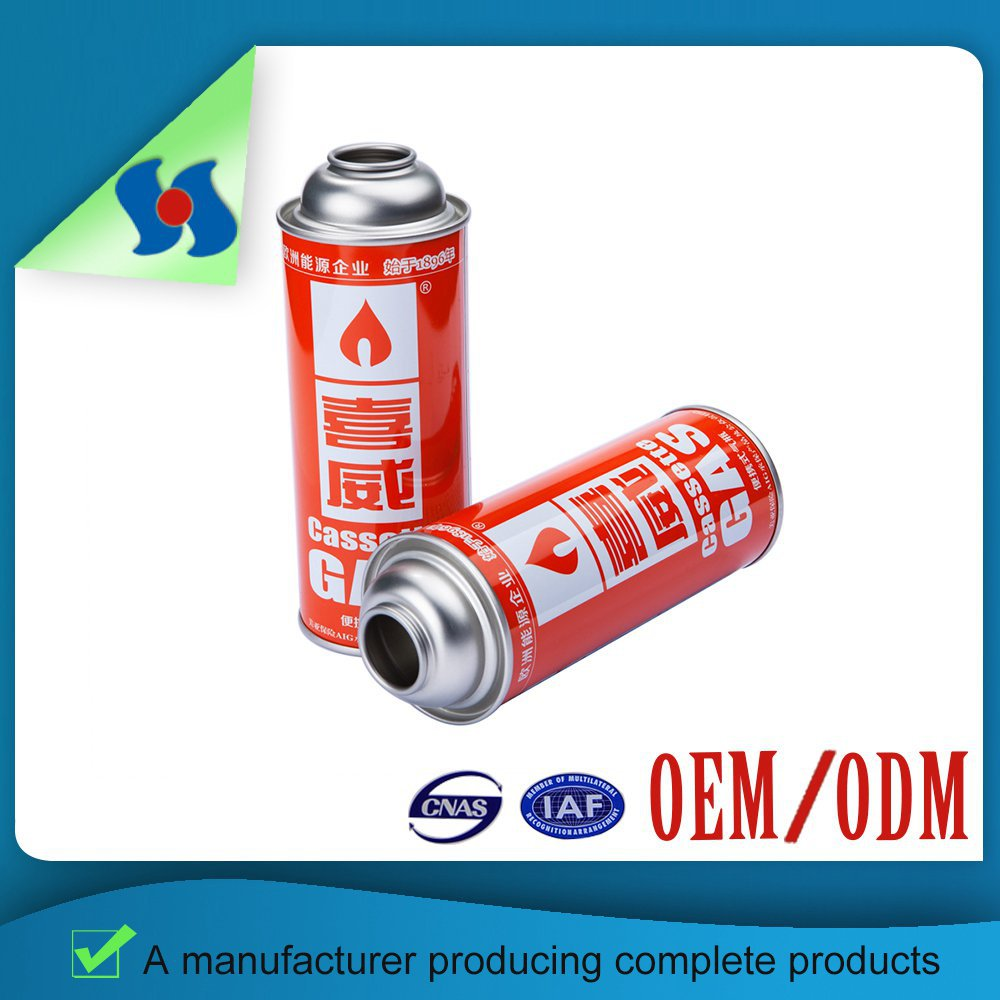 Empty Butane Gas Cartridge Straight Aerosol Can For All Kinds Of Packaging Aerosol Can