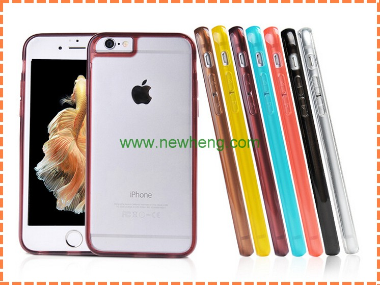 2 in1 TPU bumper + Hard Plastic phone case for iPhone 6/6s/6 plus