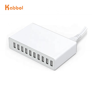 USB Charging HUB Multi Port Wall AC Charger 60W 10-Port Desktop USB Charging Station Hub Portable 10 port usb chargerfor Phone X