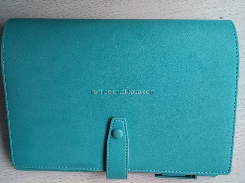 2017 New Leather notebook best sell cheap price PU notebook with pen