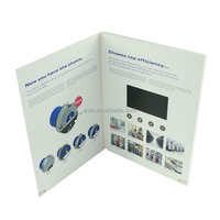 Hot selling 512MB 7 inch video brochure module invitational lcd greeting card