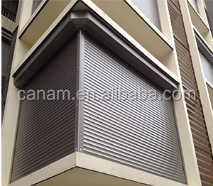 2017 Hot Sale High quality aluminum Roller Shutter Window