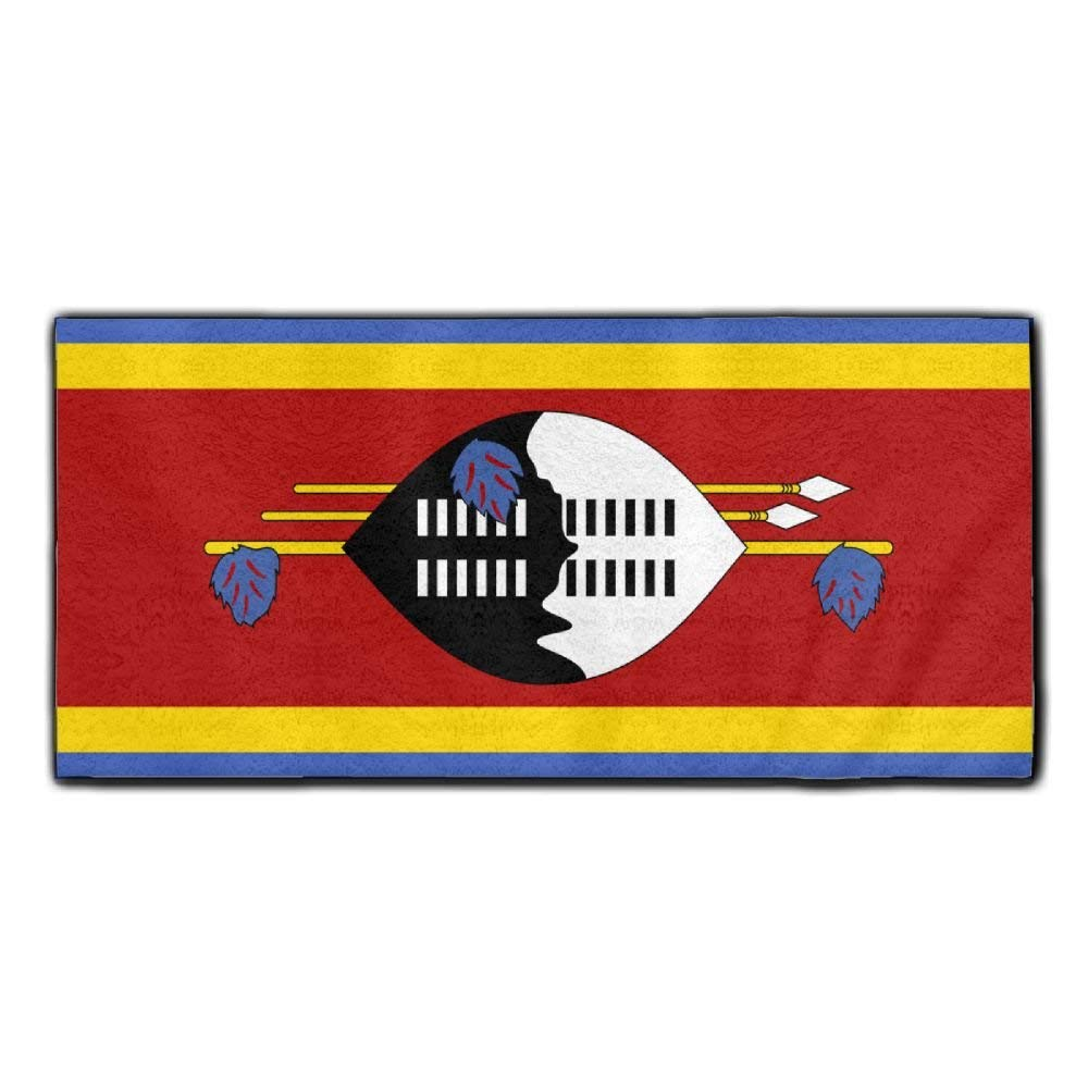 ChunLei Swaziland Flag Washcloths Face Towel Hair Care Towel Gym And Spa Towel Kitchen Dish Towel