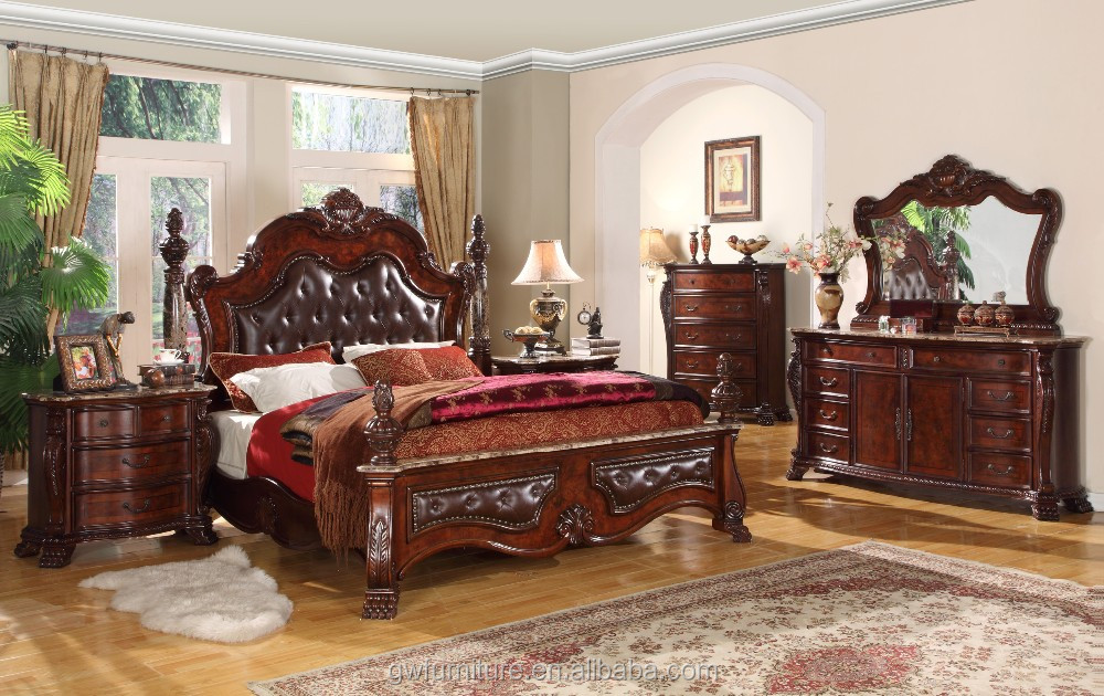 WA142 New Style MDF Classic Bedroom Sets Furniture