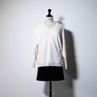 Long White V-neck Knit Sweater Pullover Cashmere Sweater Women Clothes Plus Size