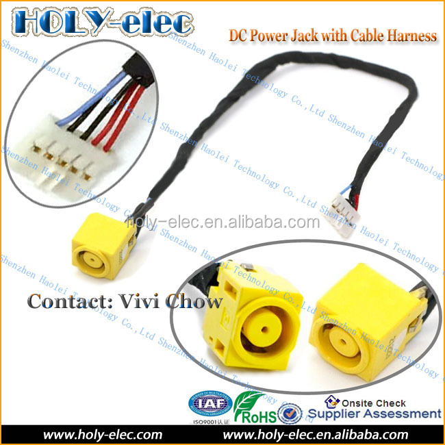 DC IN CABLE Power Jack Port Socket Harness Wire for LENOVO IdeaPad V580C V580 C (PJ572)