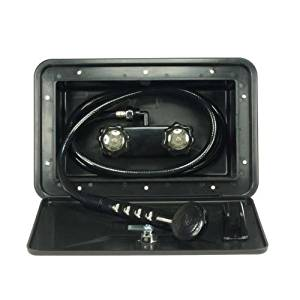 Dura Faucet (DF-SA170-BK) RV Exterior Shower Box Kit in Black - Includes Shower Faucet, Shower Hose, Shower Wand