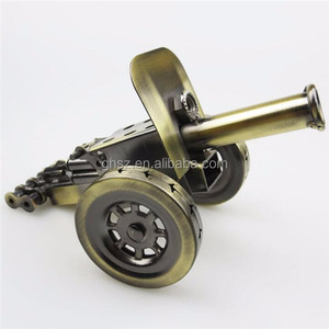 Custom simple style metal cfaft antique cannon model