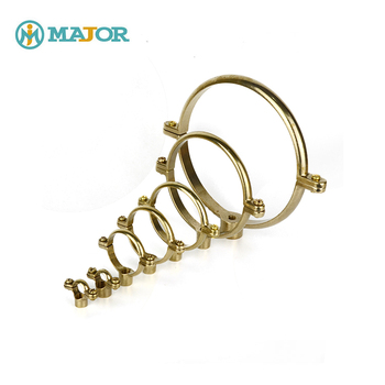 Customized Brass Hangers Strap Brackets Clamps Support Single Or Double  Ring Pipe Clip - Buy Brass Pipe Hangers,Brass Pipe Strap,Brass Pipe  Brackets