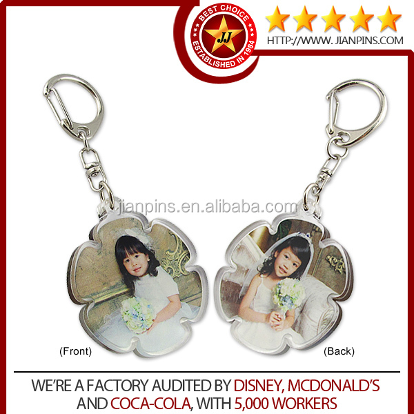 EN71-3 Business Gifts Promotional Customized Acrylic Keychain