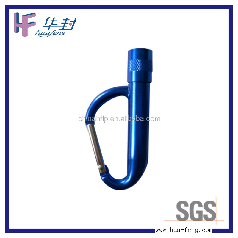 Muilt-shaped fashion climbing carabiner with LED light