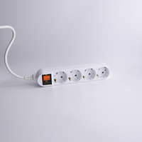 Europe and Korea type extension socket extension cord socket with switch multi power cord power strip