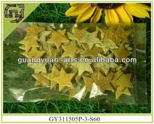 star shape natural birch bark