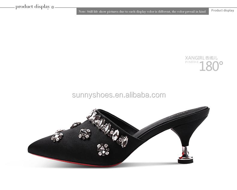 heel handmade stiletto slipper fashionable woman decorated rhinestones d6TawI