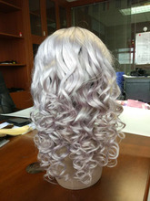Promotion Grey Remy Virgin Chinese Hair Full Lace Wigs