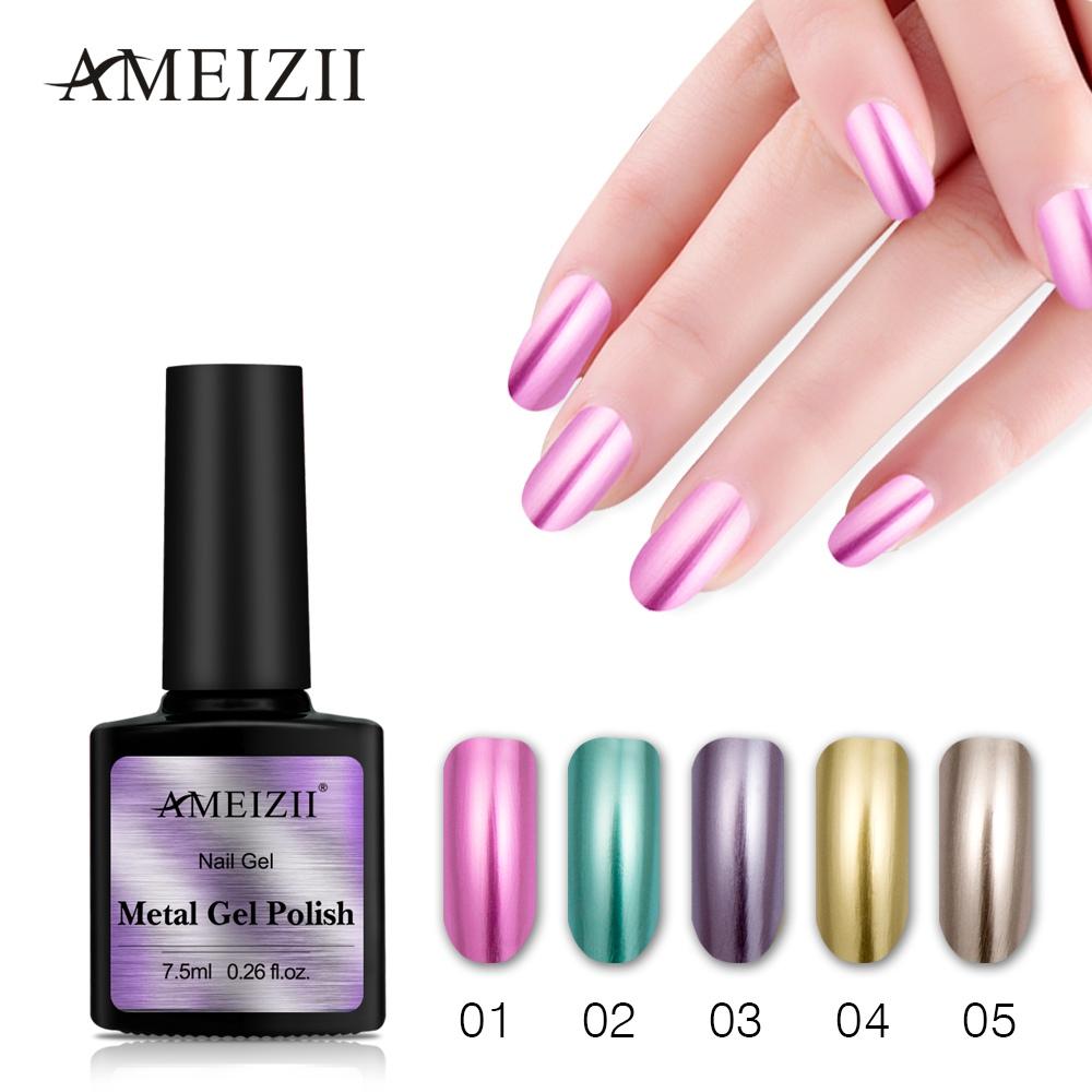Bonito Metálica Esmalte De Uñas De Color Púrpura Patrón - Ideas de ...