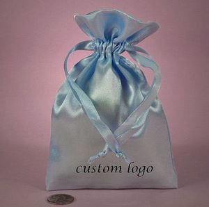 customized design satin hair extention bag drawstring