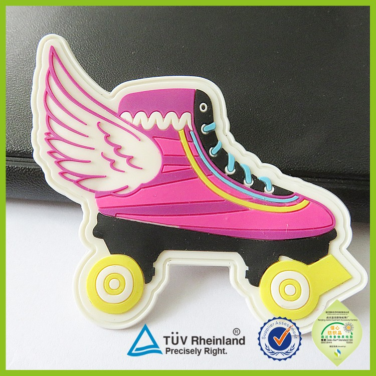 Custom made clothes 3d stickers silicone soft rubber sticker