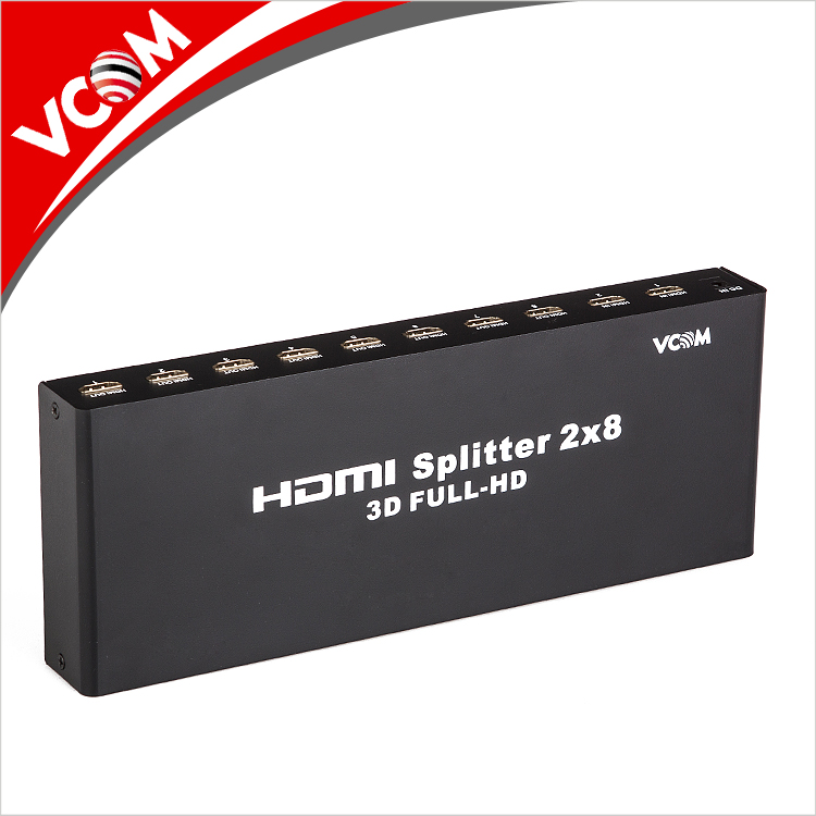 High quality 2 in 8 out 8 port hdmi splitter 2x8 2.0