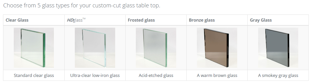 Customized Design 12mm 15mm 19mm Tempered Dinning Table Top Glass / Round Table Top Glass