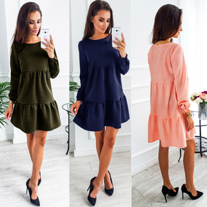 Women Dress Autumn And Winter Fashion Long Sleeve Dresses Pink Army Green Womens Clothing Sexy Dress