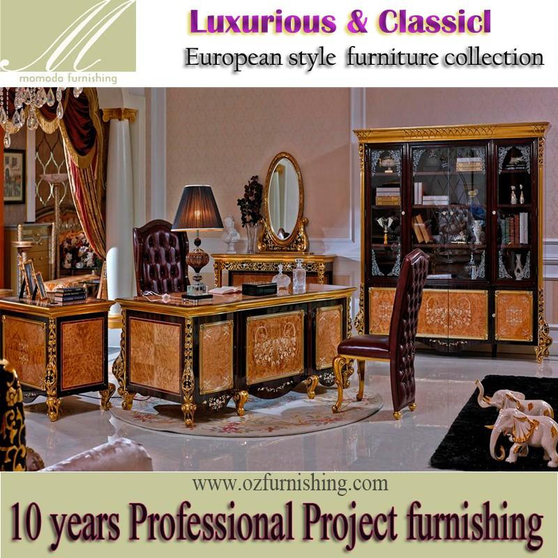 Yb61 Barock Italien Antiken Büromöbel Study Room Schreibtisch Und ...