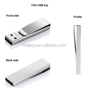 Custom logo metal paper clip usb stick, promotional usb pen drive clip with custom logo, cheap mini usb flash drive