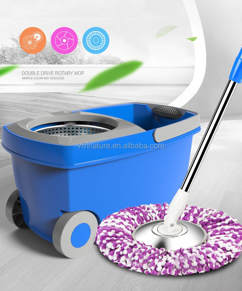 Portátil de 360 giro fácil fregona rotación y fácil fregona con ruedas
