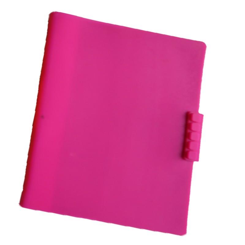 Couverture De Livre En Silicone Plat Rose Couverture De Livre Extensible Pour Ordinateur Portable Buy Couverture De Livre Couverture De Livre