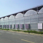 Multi-span film greenhouse with irrigation system and intelligent control system