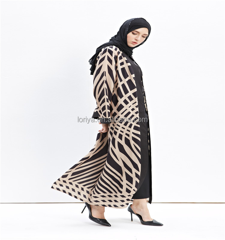 Newest paypal acceptable long sleeve fashion muslim dress for european girls