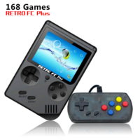 2019 New Mini Handheld Game Console 3.0 Inch 8 Bit Retro FC with 168 plus Classic Games Support Two People To Play