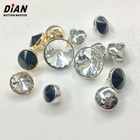 Fashion small size plating metal nickel gold shank crystal button for sofa garment