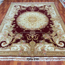250x350cm handmade oriental rugs ziegler Hand Knotted low pile chinese silk wool carpets