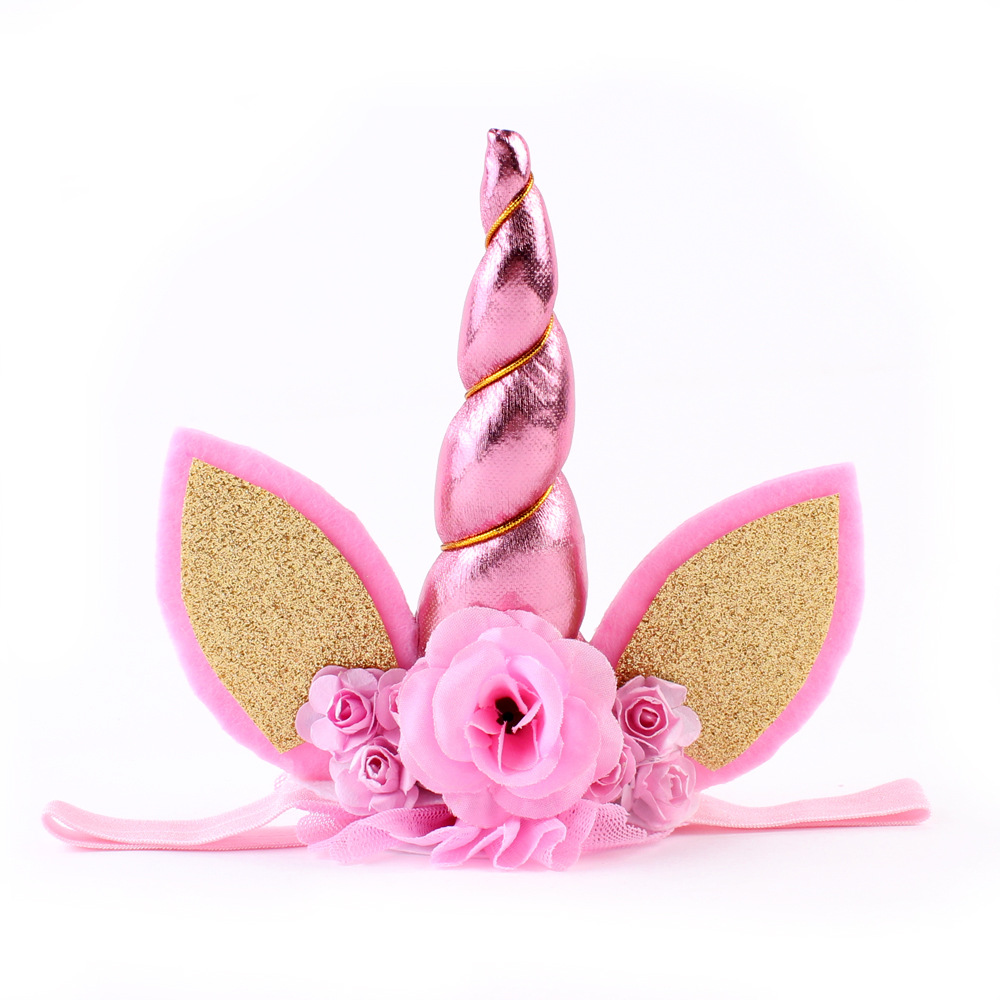 Party unicorn birthday head accessory flower headband baby accessories