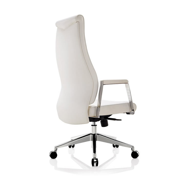 Luxury High Back White Leather Office Chair For Tall People Buy Luxury Reclining Office Chair Genuine Leather Rocking Office Chair Wooden Executive Office Chair Product On Alibaba Com