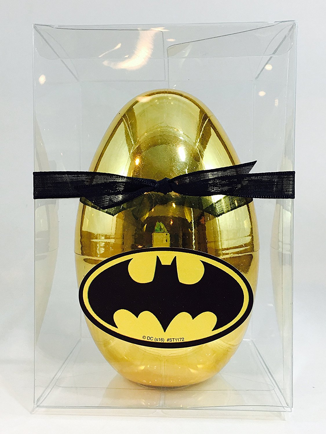 Get quotations · new batman inspired gold surprise egg with batman stickers batman vs superman blind bag